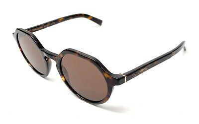 New Dolce & Gabbana DG 4353 502/73 Havana Men Authentic Sunglasses 50-22-A8
