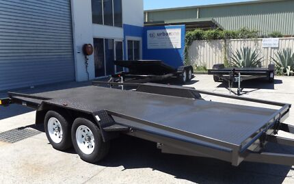 TILTING 15FT 2800KG CAR TRAILER WITH NEW TYRES & RIMS/RAILINGS Toowoomba Region Preview