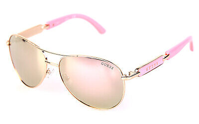 Guess Damen Sonnenbrille Sunglasses Aviator rosa