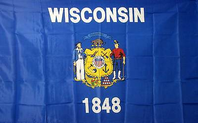Wisconsin Banner Flag Sign State 3 x 5 USA New Polyester