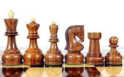 Golden Rose Wood Zagreb Staunton Wooden Chess Set Pieces King size 4
