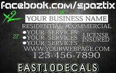 (2) Van car vehicle custom vinyl decal lettering stickers business signs CHEAP! - Cheap Custom Stickers