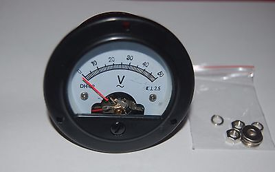 Ac 0-50v Round Analog Voltmeter Voltage Panel Meter Dia. 66.4mm Dh52