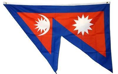 3' X 5' NEPAL INTERNATIONAL polyester flag w/ grommets. Banner Sign - International Flags Banner