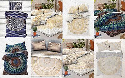 Cotton Duvet Comforter - Indian Mandala Duvet Cover Doona Comforter Cotton Bohemian Queen Quilt Cover Set