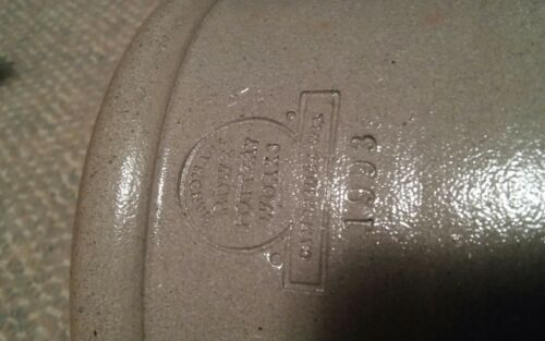 VTG Rowe Pottery Stoneware Wedding Crock 1993 Rare Blue Antique Look 1 Of A Kind - $49.99
