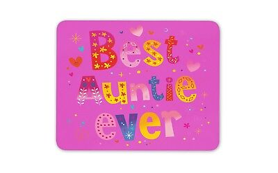 Pink Best Auntie Ever Mouse Mat Pad - Aunty Flowery Cute Gift Computer #13265