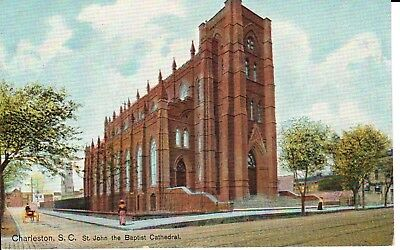 Early 1900's St. John the Baptist Cathedral in Charleston, SC South Carolina...