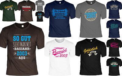 2003 Jahrgang - T-Shirt 16.Geburtstag - 16 Jahre coole Sprüche Geburtstag 2003 (Coole Sprüche T-shirt)