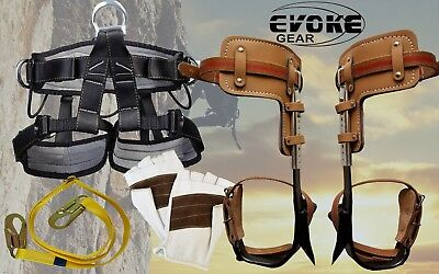 Tree Climbing Spike Set Spurs Climber Adjustable Pro Harness Half Finger Glove