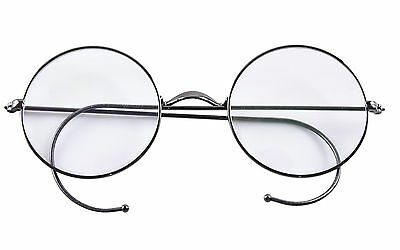 Retro Round Optical Rare Wire Rim Eyeglass Frame 47mm (Without Nose (Eyeglasses Without Nose Pads)