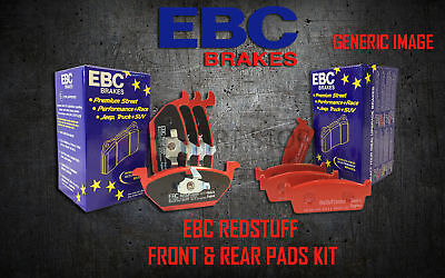 NEW EBC REDSTUFF FRONT AND REAR BRAKE PADS KIT PERFORMANCE PADS PADKIT1714 Change Rear Disc Brakes