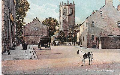 The Village Street & Early Motorcar, HORNBY, Lancashire