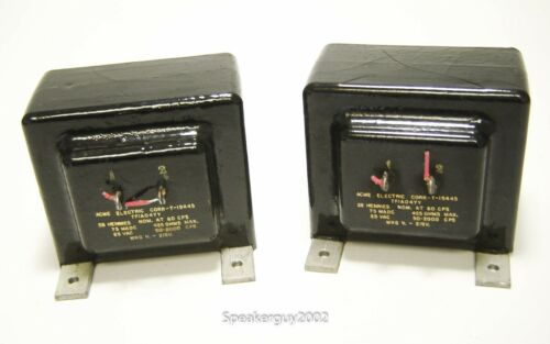 Pair of Vintage Acme Power Supply Chokes / 28H / T-19445 -- KT