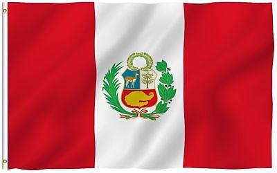 3x5 Peru Flag Peruvian Country Banner South American Pennant Bandera Outdoor New