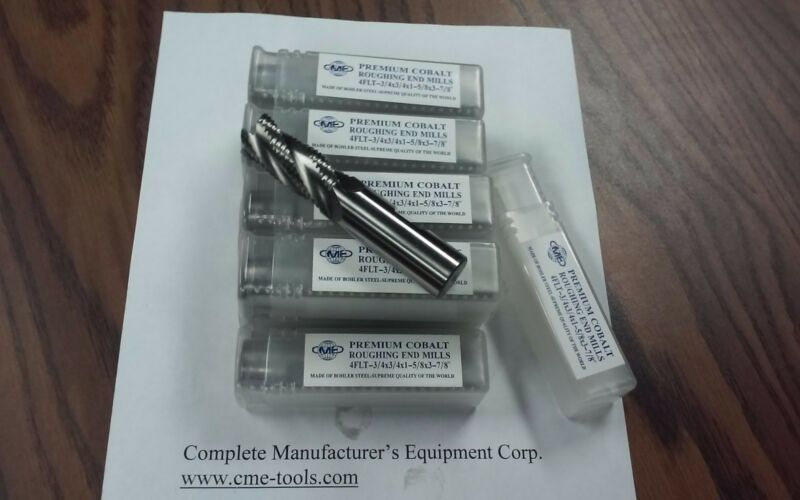 """3/4"""" M42 cobalt roughing end mills 10pcs for $169.00 #1002-CO-3/4 free ship-new"""
