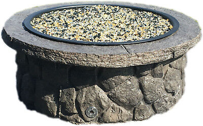 Concrete Fire Pit Seat Wall Form Liner - Boulder Face Short 14 Tall X 57 Long