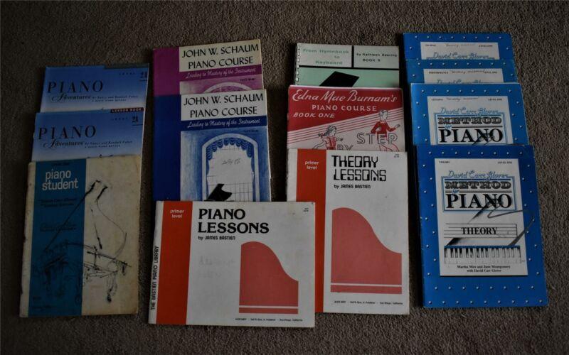 Lot Piano Lesson Music Books Bastien, Glover, Schaum, Etc.