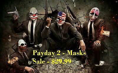 Payday 2 Masks High Quality Resin Composite Halloween Cosplay Mask - Payday 2 Halloween Masks