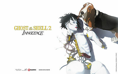 Ghost in the Shell 2: Innocence. Official cinema UK quad movie poster