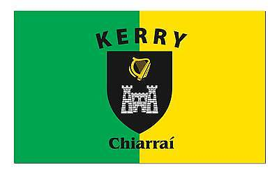 KERRY IRELAND COUNTY polyester flag w/ grommets. Banner Sign Display 3 'X 5'