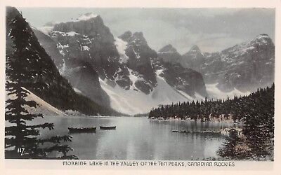 Moraine Lake in The Valley of The Ten Peaks Alberta ALTA 067 RPPC Real Photo for sale  Canada