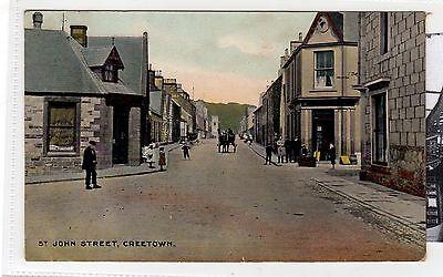 ST JOHN STREET, CREETOWN: Kirkcudbrightshire postcard (C28446)