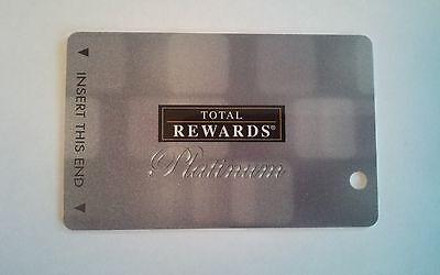 Total Rewards Platinum Gaming Card  Uninscribed  No Name Indicated   Fabulous