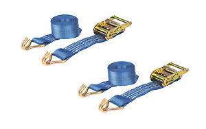PAIR 2000kg 50mm x 3m Heavy Duty RATCHET STRAP Tie Down 2 Ton (2500kg webbing)