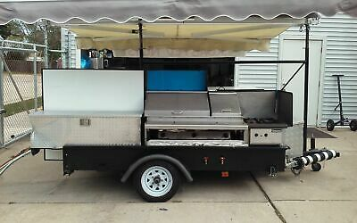 5 X 9 Food Vending Concession Cart With 12 Canopy For Sale In Wisconsin