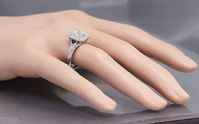 GIA F-VS2 18k White Gold Asscher Cut Diamond Engagement Deco Halo Ring 1.45ctw 10