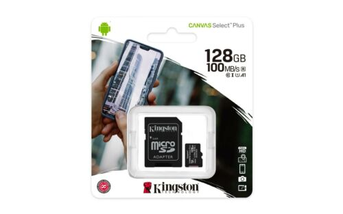 Kingston 128GB 128G Micro SD HC Class 10 Canvas TF Flash SDHC Memory Card mobile Cell Phone Accessories