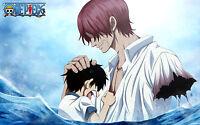 Poster A3 One Piece Luffy Shanks -  - ebay.es