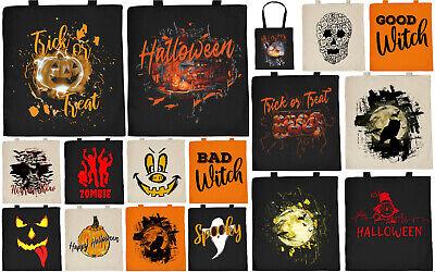Halloween Motiv Tasche - Baumwolltasche Halloween Kostüm - Tragetasche Süßigkeit