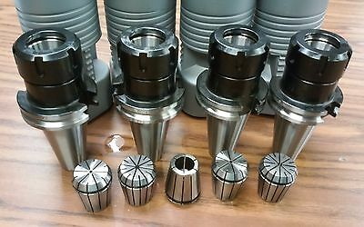 Cat40-er32 Collet Chuck---4 Chucks 5 Collets  Tool Holder Set