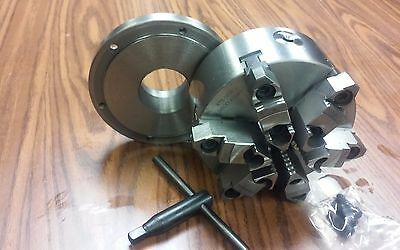 6 6-jaw Self-centering Lathe Chuck W. Topbottom Jaws W. 2-14-8 Adaptor-new