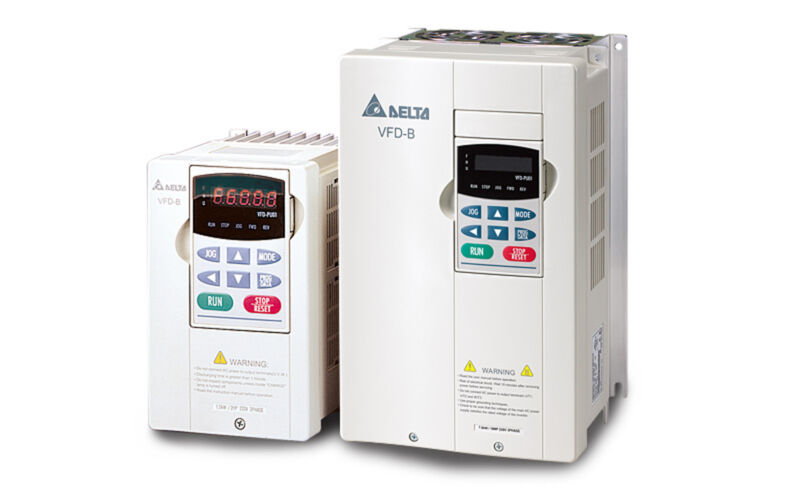 Delta Vfd-055b23a Frequency Inverter Drive 7.5hp/230v 3ph