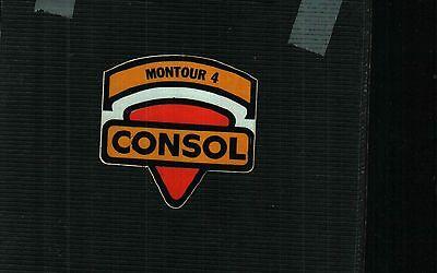 1 Nice Older Shield Montour 4 Consol Coal Co  Coal Mining Sticker  753
