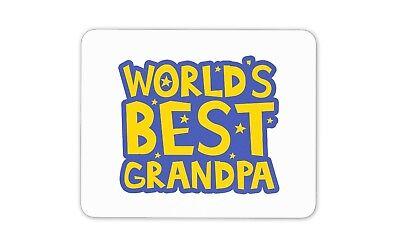 World's Best Grandpa Mouse Mat Pad - Grandad Granda Papa Computer Gift #19176