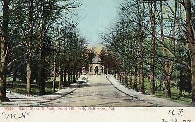 1907 BALTIMORE MARYLAND*MD*BAND STAND & MALL*DRUID HILL PARK*TO LYNCHBURG (Malls Maryland)