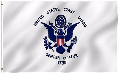 3x5 USCG US Coast Guard Semper Paratus 3'x5' Military Indoor Outdoor Flag Banner