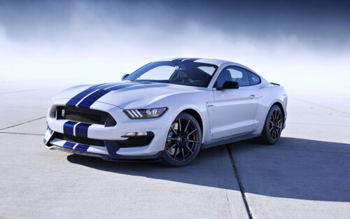 """FORD Mustang Shelby White GT350 Sport car LARGE 41"""" x 27"""" HD POSTER PRINT"""