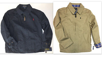RALPH LAUREN Polo Boys Size 7 Jacket Kids Twill Coat NEW