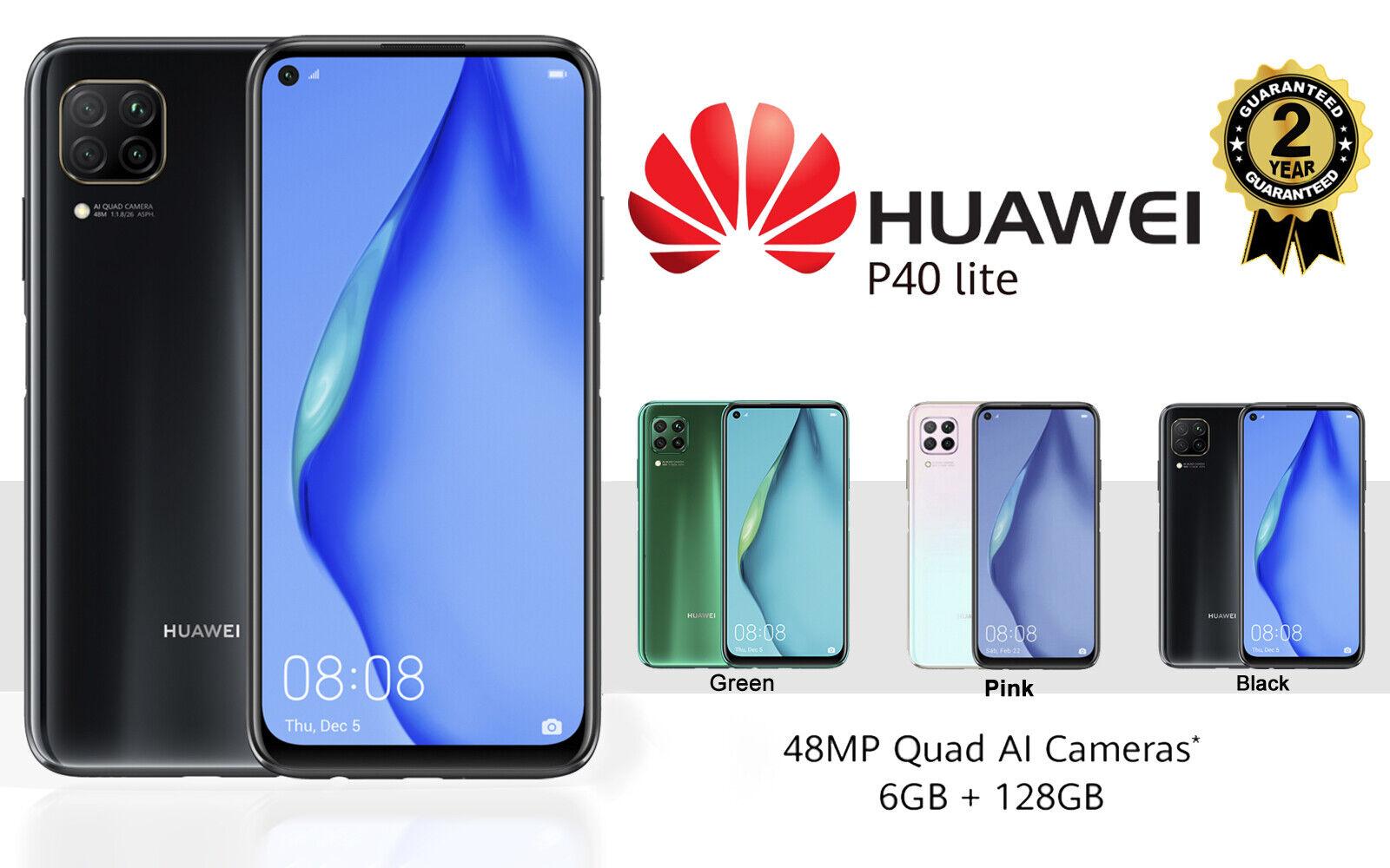 Android Phone - NEW HUAWEI P40 LITE DUAL SIM FREE 128GB 4G LTE UNLOCKED PHONE SEALED BLACK GREEN