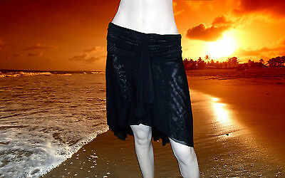 Gottex Black Sheer Bathing Suit Cover-up Skirt Size - 2x 2 X