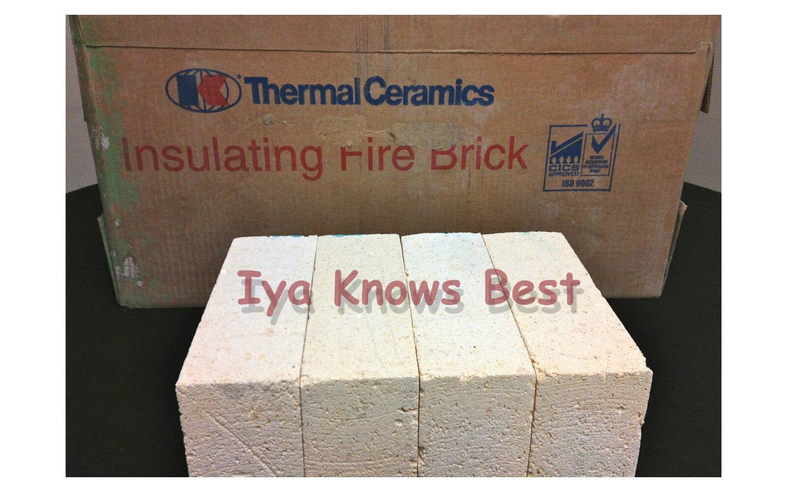 "K-26 Insulating Firebrick 8/"" x 4.5/"" x .50/"" Fire Brick Morgan Thermal Ceramic K26"