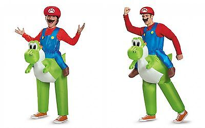 Disguise Super Mario Riding Yoshi Adult Child One Size Halloween Costume -