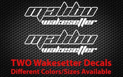 2X Malibu Wakesetter Sticker Boat Wakeboard Jet Ski Car Truck Window Decal Vinyl