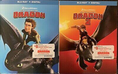 HOW TO TRAIN YOUR DRAGON 1&2(BLU-RAY+DIGITAL)W/SLIPCOVER NEW (Halloween 2 Blu Ray Special Edition)
