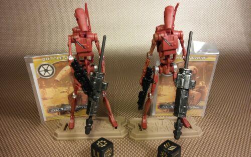 """Star Wars Clone Wars Hasbro 3.75"""" figure MH04 Separatist Battle Droid B1 red x2"""
